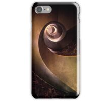 Spiral concrete modern staircase iPhone Case/Skin