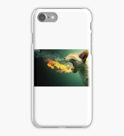 Fire cat iPhone Case/Skin