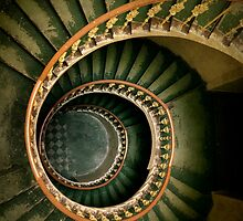 Spiral wooden  staircase by JBlaminsky