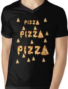Pizza, pizza, pizza.  Mens V-Neck T-Shirt