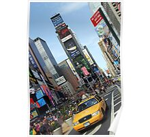 new york city, times square, taxi Poster