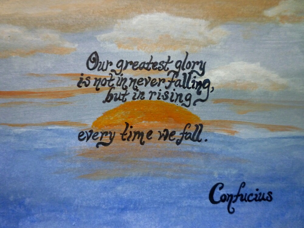Confucius Quote Over Acrylic by Works By  Barbara