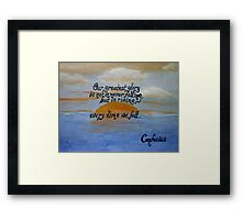 Confucius Quote Over Acrylic Framed Print