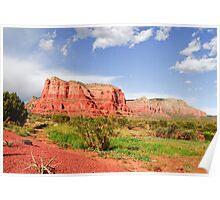 Sedona Red Sandstone Landscape, Arizona Poster