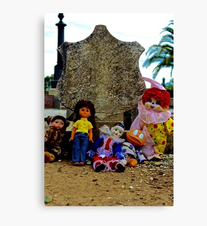 Doll Gravestone Gang Canvas Print
