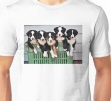 5 pups in a crate Unisex T-Shirt
