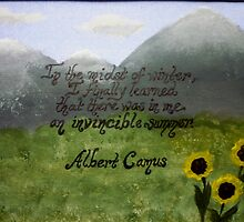 Albert Camus Quote On Acrylic by Works By  Barbara