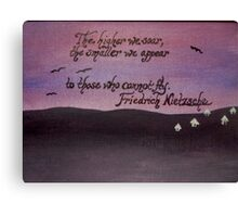 Friedrich Nietzsche Quote On Acrylic Canvas Print