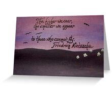 Friedrich Nietzsche Quote On Acrylic Greeting Card