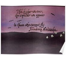 Friedrich Nietzsche Quote On Acrylic Poster
