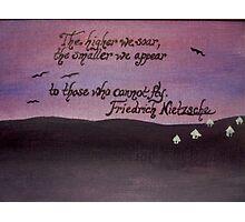 Friedrich Nietzsche Quote On Acrylic Photographic Print