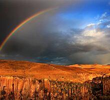 Half rainbow over Ihlara valley by Hercules Milas