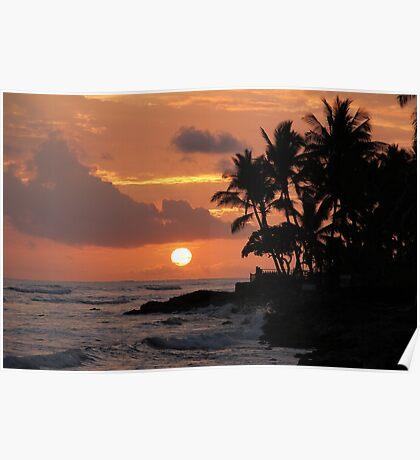 Ewa Beach, Hawai'i  Sunset Poster