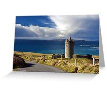 Doolin Irish Castle, County Clare, Ireland Greeting Card