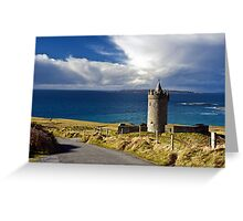 Doolin Irish Castle, County Clare, Ireland Greeting Card
