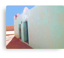 Beautiful Algeria - Love those Turquoise Buildings Canvas Print