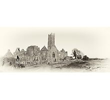 Quin Abbey, Panoramic, County Clare, Ireland Photographic Print