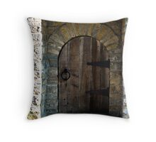 Underground Rail Road Slave Door Throw Pillow