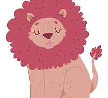 Pink Lion by Claire Stamper