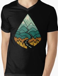 The Road Goes Ever On: Autumn Mens V-Neck T-Shirt