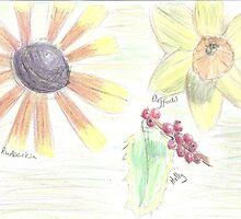 flowers - coloured pencil by rullo