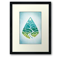 The Road Goes Ever On: Summer Framed Print