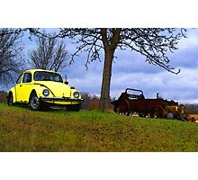 Punch Buggie Yellow: No Punch Backs!! Photographic Print
