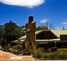 Ned Kelly Statue,Glenrowan,Victoria,Australia. by LesBennett