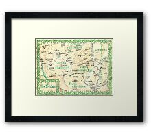 The Shire - hand-painted design Framed Print