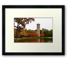 The Bell Tower on Swan Lake Framed Print