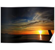 Cold sunset IV Poster