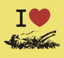 Dinosaur love Kids Tee