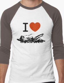 Dinosaur love Men's Baseball ¾ T-Shirt