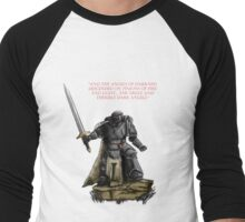 Angel of Darkness - Quote & Full Colour Men's Baseball ¾ T-Shirt