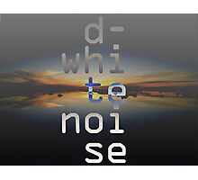 D-White Noise - sunset beach stack Photographic Print