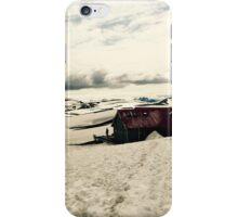 Mountain hut in Iceland iPhone Case/Skin