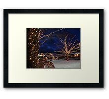 Christmas Time at The Yankee Candle Factory Framed Print