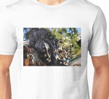 Impressions of Venice - Black and White Fantasy Face With Feathers Unisex T-Shirt