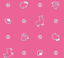 Yarnimals - Pink by Alex Broadbent