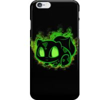 Bulbasaur fushigidane - black iPhone Case/Skin