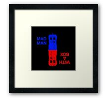 Mad Man With A Box Framed Print