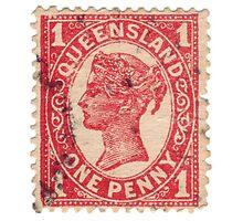 Queen Victoria Stamp Photographic Print