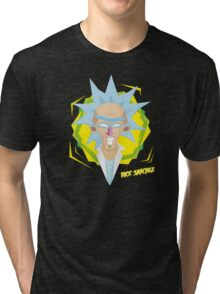 Rick Sanchez burp motherf+ckers Fanart Tri-blend T-Shirt