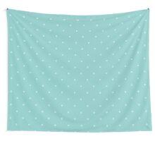 Blue Polka Dots of Yarn Wall Tapestry