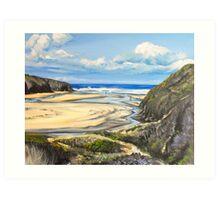 Porthcothan Beach Art Print