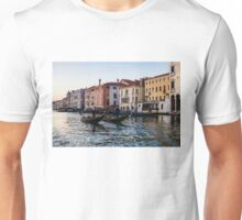 Impressions of Venice - Glossy Water Gondolas on the Grand Canal Unisex T-Shirt