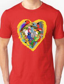 I heart parrots cute cartoon Unisex T-Shirt