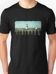seagulls on the beach T-Shirt