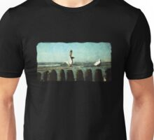 seagulls on the beach Unisex T-Shirt