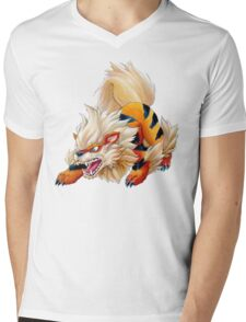 Arcanine Mens V-Neck T-Shirt
